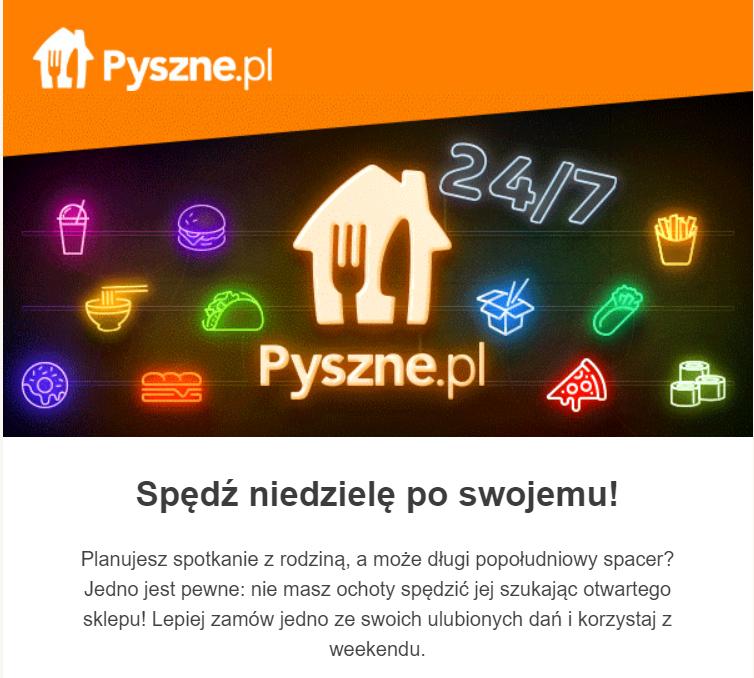 Pyszne.pl -20 zł kod rabatowy