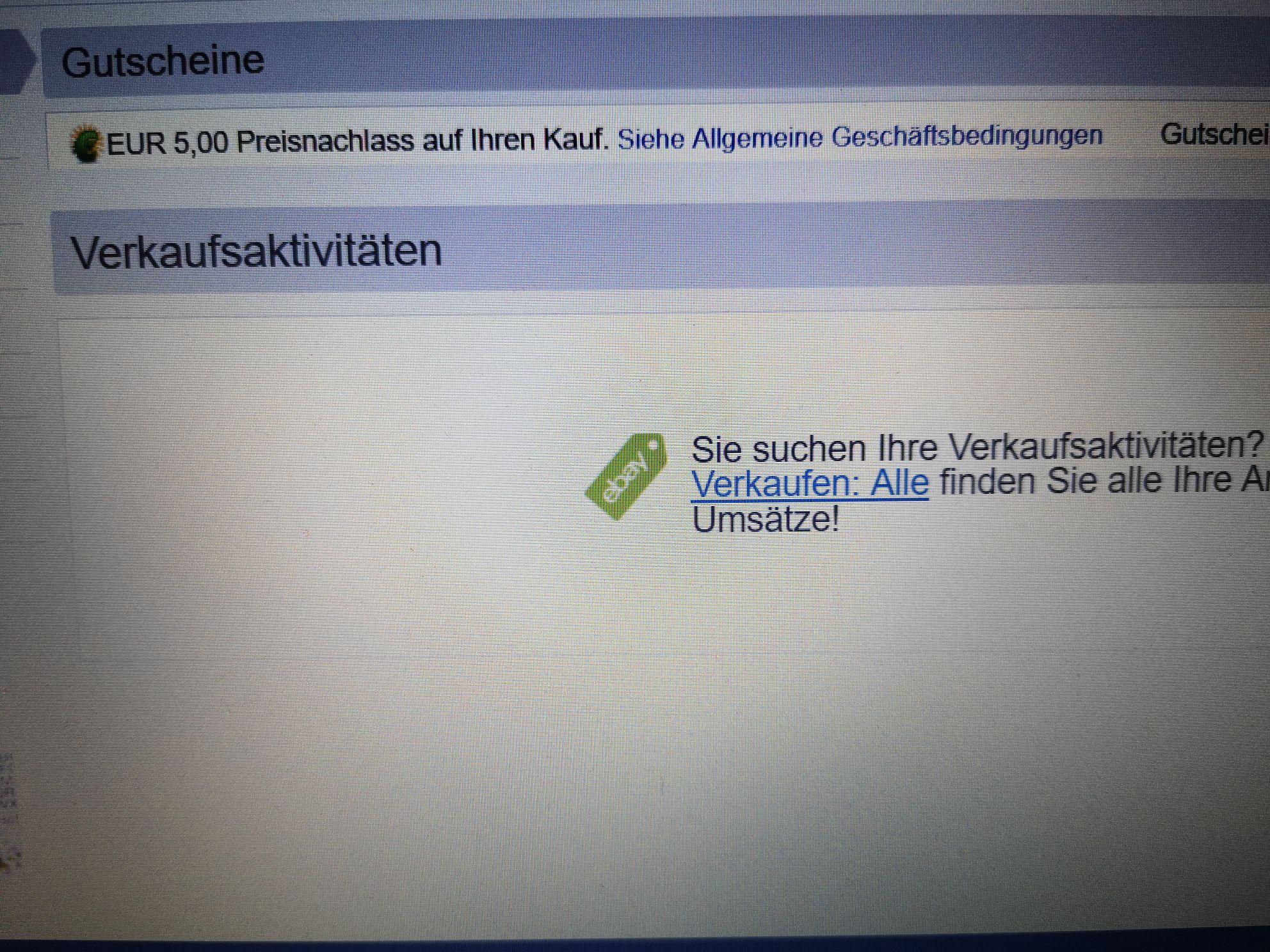 Ebay.de, znowu kody na zakupy 5 euro bez MZW