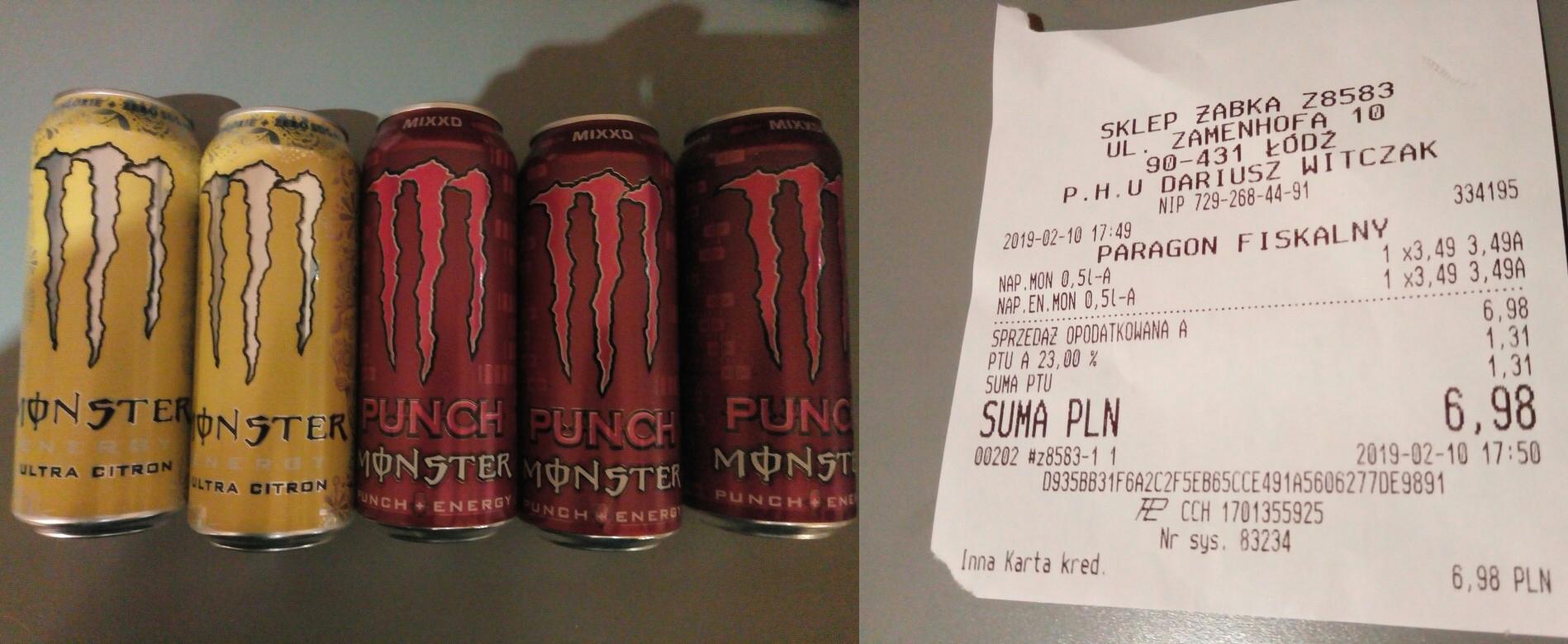 Monster Punch oraz Monster Ultra Citron - Żabka