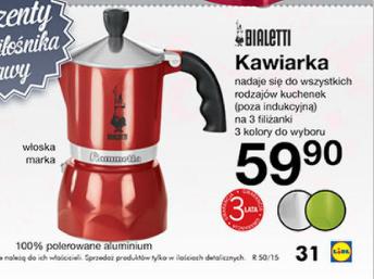 Kawiarka Bialetti za 59,90zł (cena regularna około 100zł!) @ Lidl