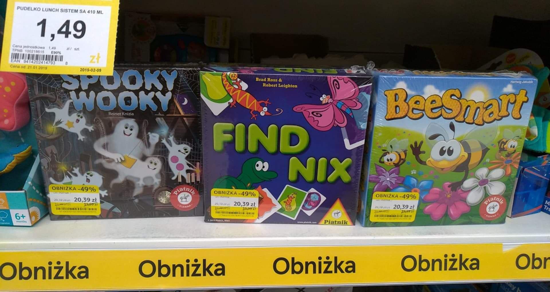 Gry planszowe dla dzieci Spooky Wooky, BeeSmart i FindNix