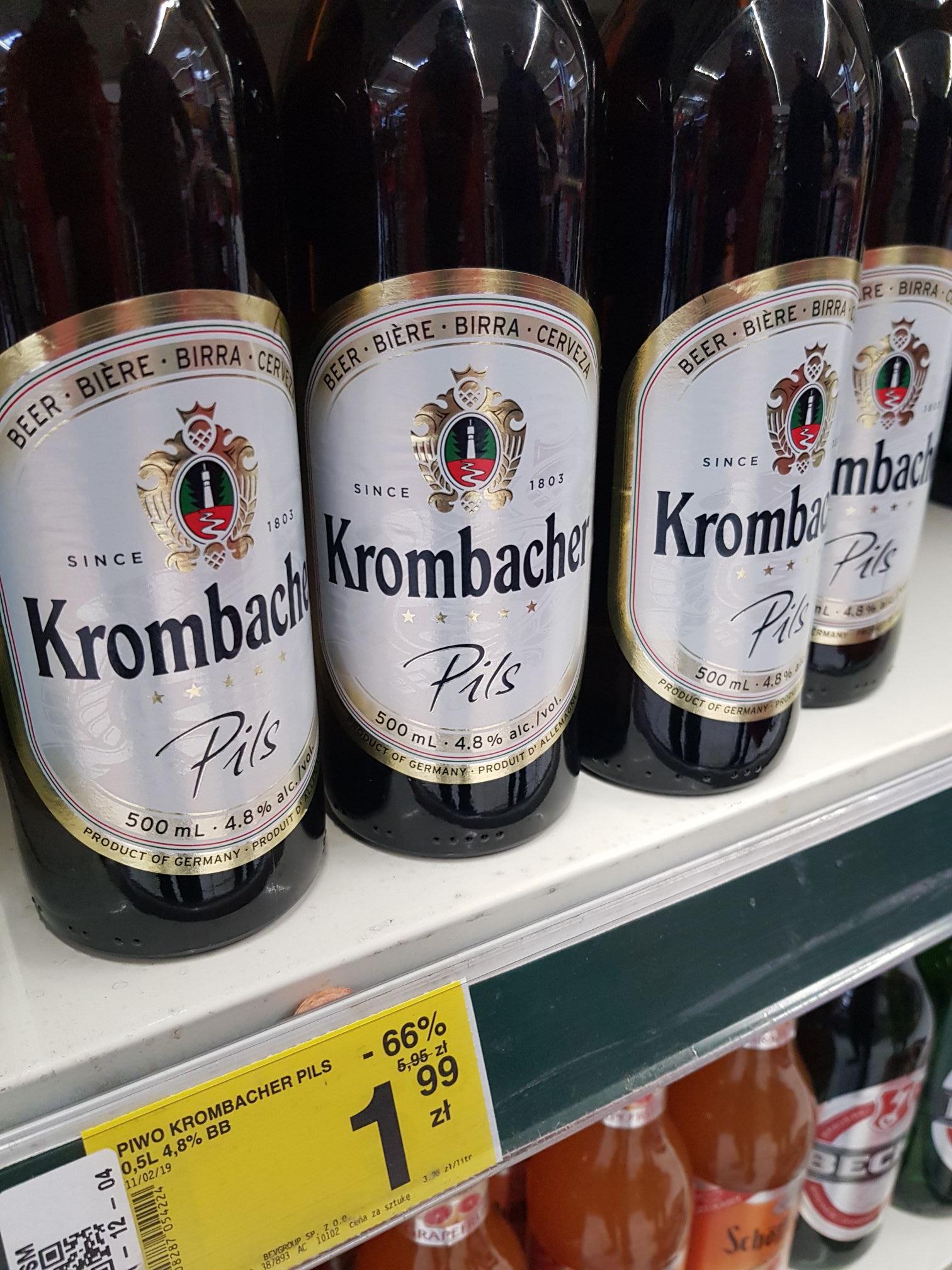 Piwo Krombacher Pils 500 ml Carrefour Warszawa Dw. Wileński