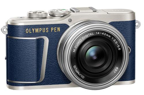 Aparat fotograficzny Olympus PEN E-PL9 granatowy z ob. 14-42mm f/3.5-5.6 ED EZ srebrnym + bon za 135 zł na CEWE Książkę