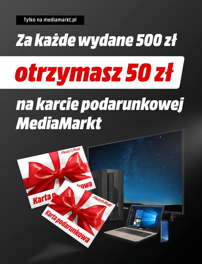 50zł za każde wydane 500zł (MediaMarkt)