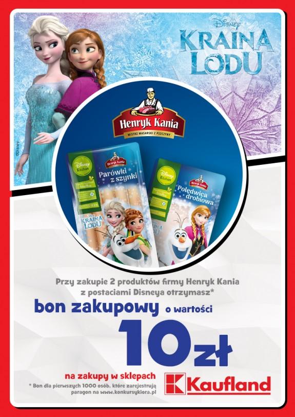 """Kup 2 opakowania produktów """"Henryk Kania"""" za 7,98zł i otrzymaj bon 10zł (parówki, polędwica, schab)"""