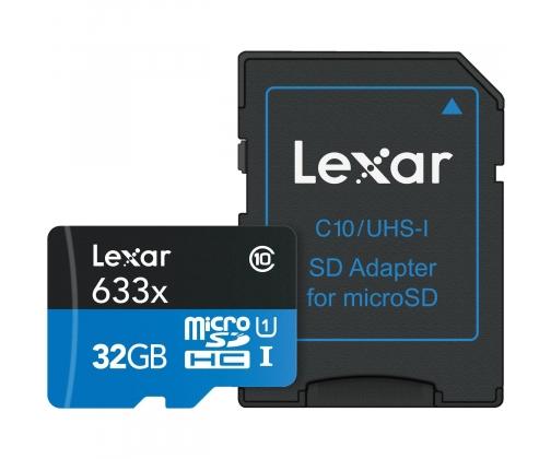 Lexar 32GB microSDHC 633x 95MB/s + adapter w x-kom.pl