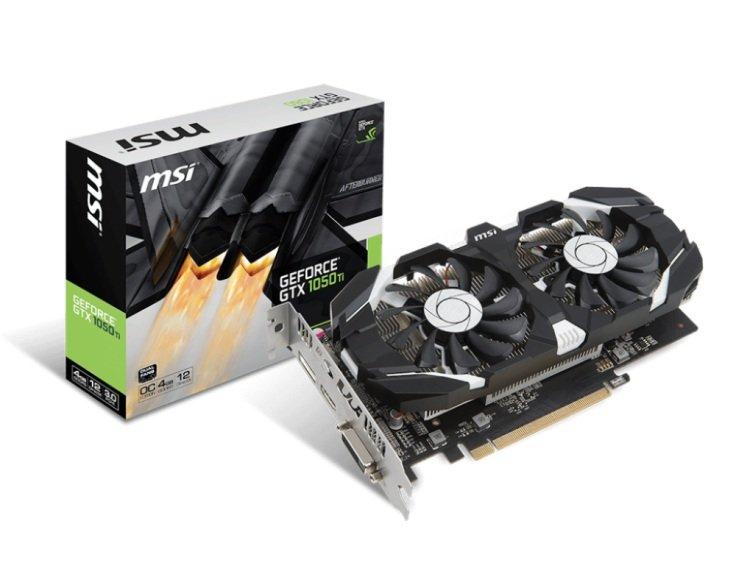 Karta graficzna MSI GeForce GTX 1050 Ti OC 4GB @ Proline