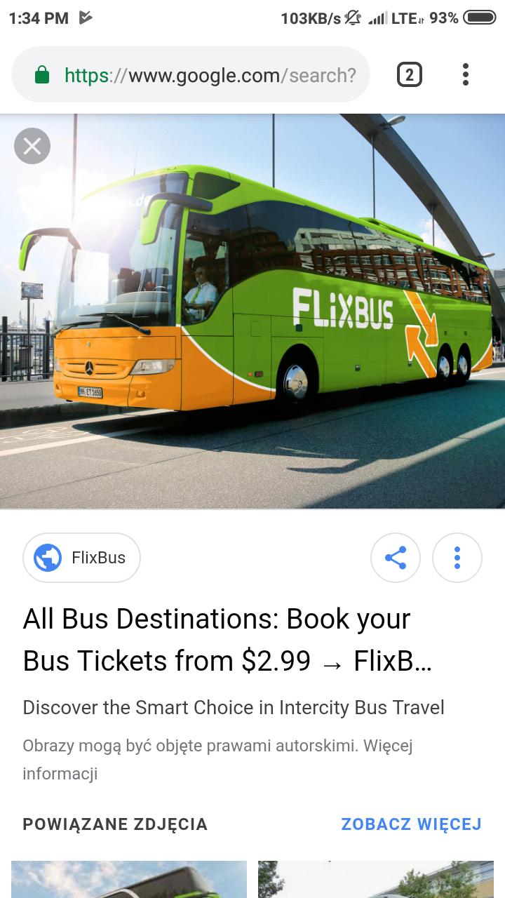 Flixbus - 15 /20 procent dla krwiodawcow
