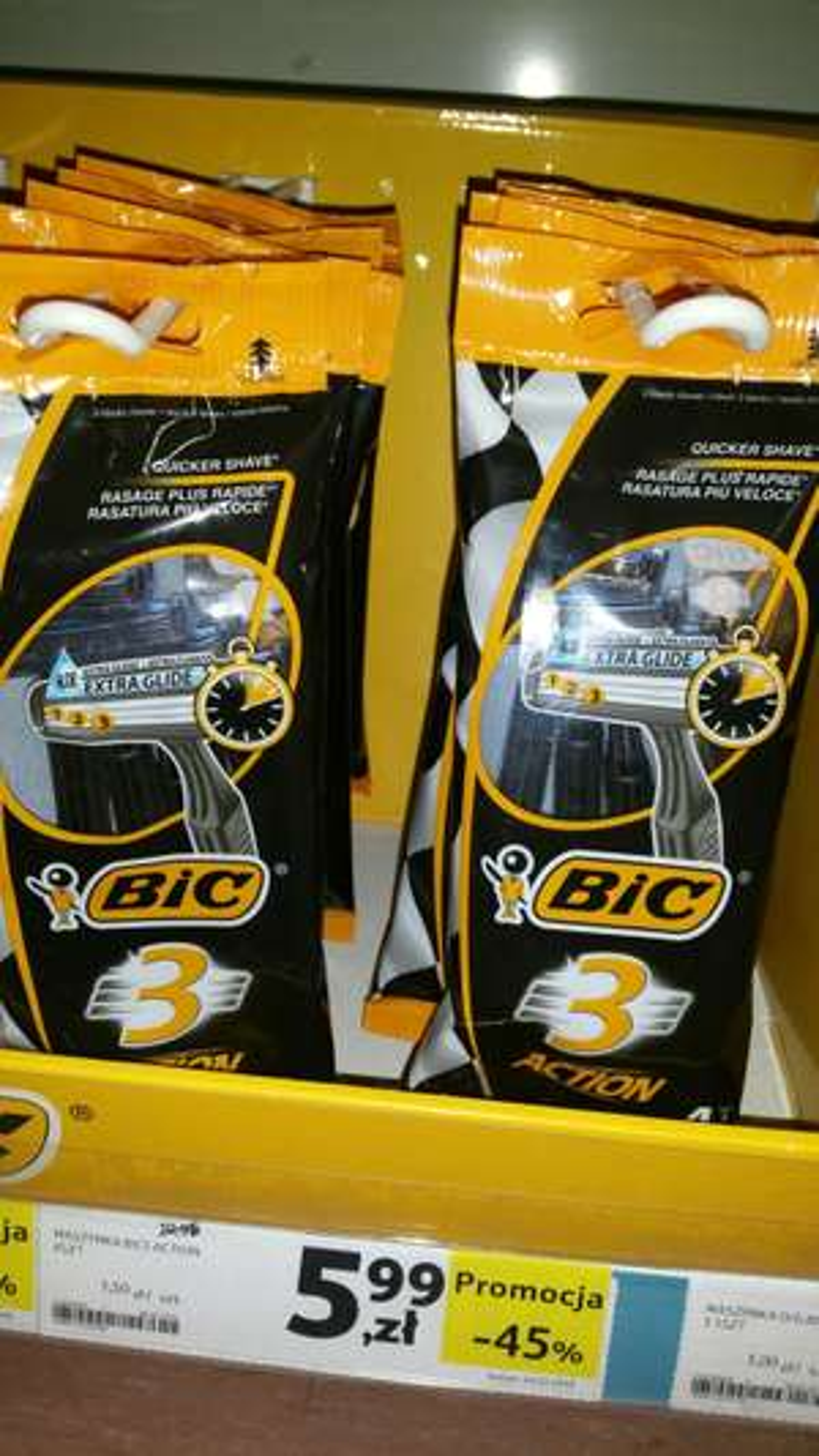 Maszynki do golenia BIC 4 szt. 3 ostrza cena za szt.1,50!!