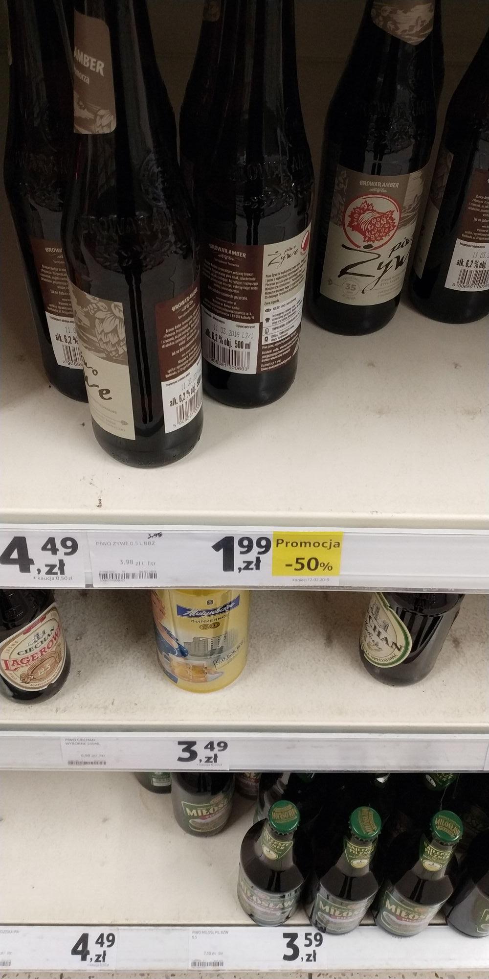 Piwo żywe browar Amber Tesco Kielce Świętokrzyska - Cała Polska