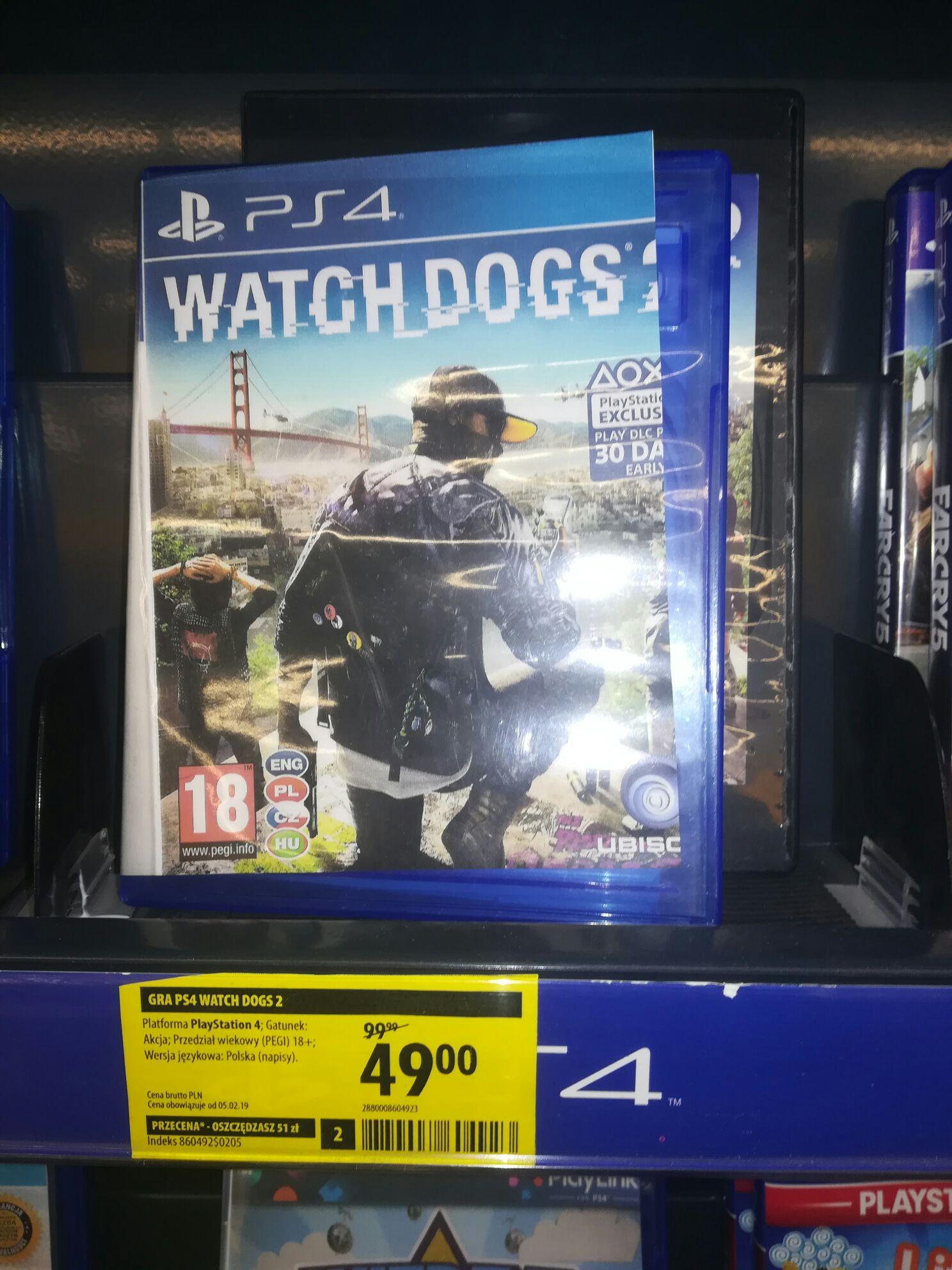 Watch dogs 2 na PS4 PL w MediaExpert Szczecin