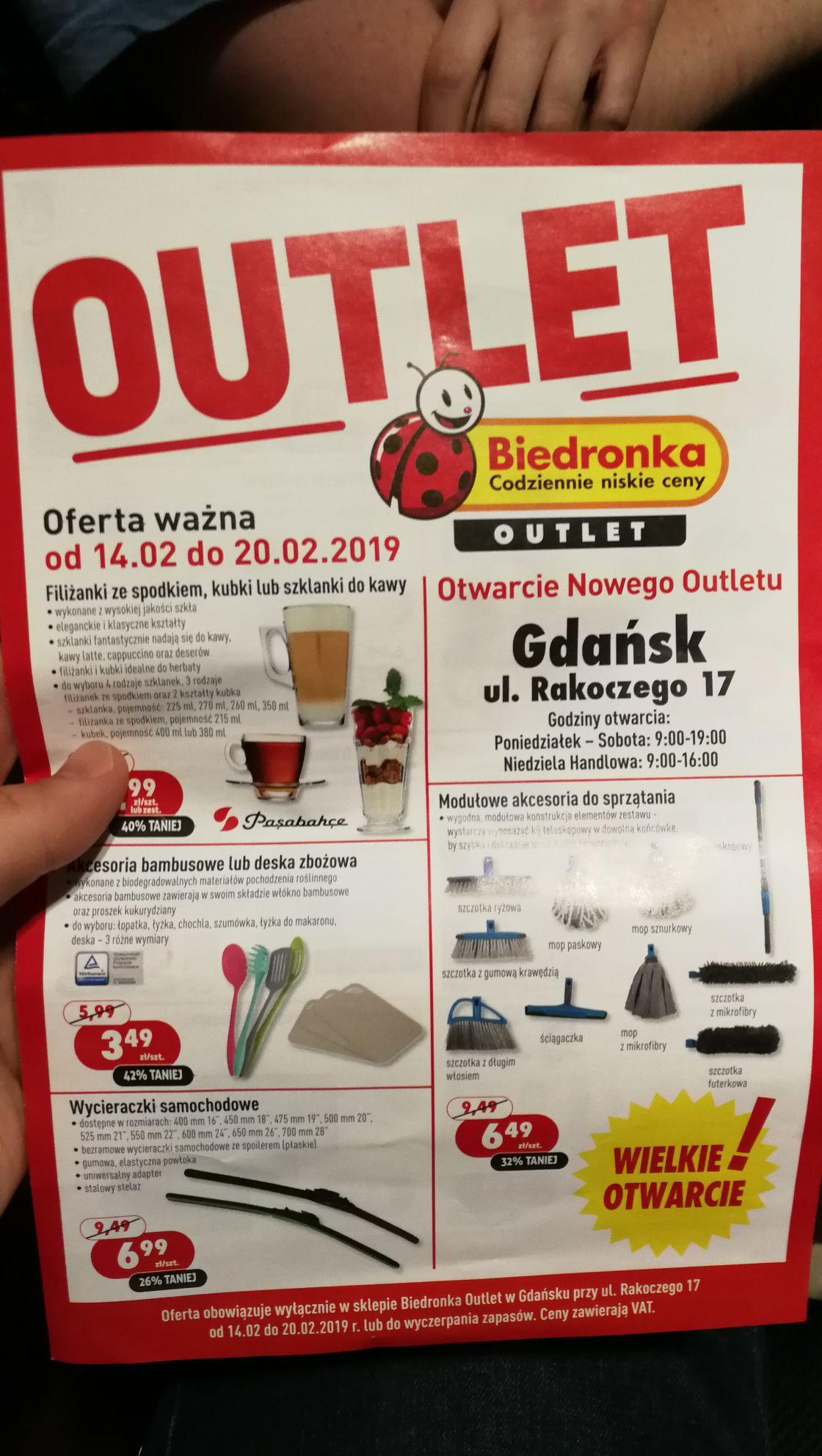 Biedronka outlet Gdańsk Morena otwarcie
