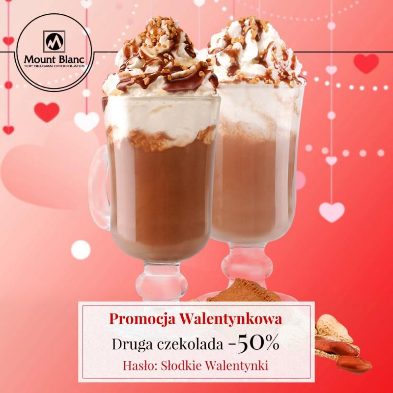Walentynki - 50% rabatu na drugą czekoladę do picia @ Mount Blanc