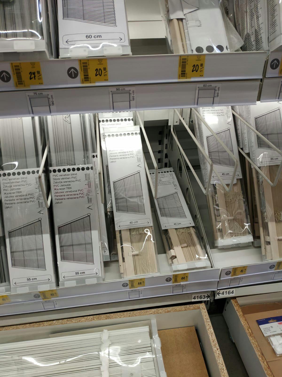 Castorama żaluzje PVC od 14zl