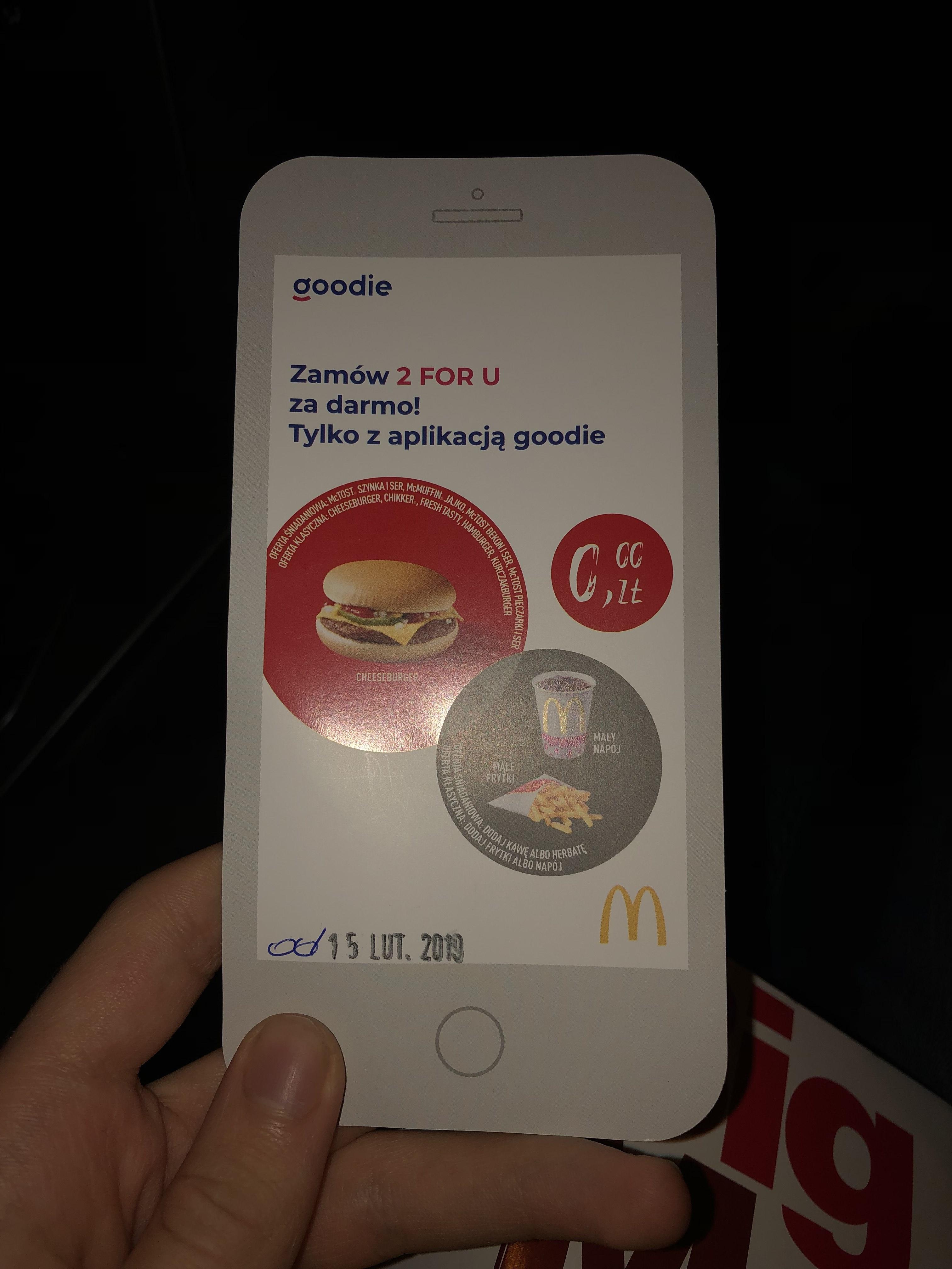 Darmowe 2forU w McDonald's