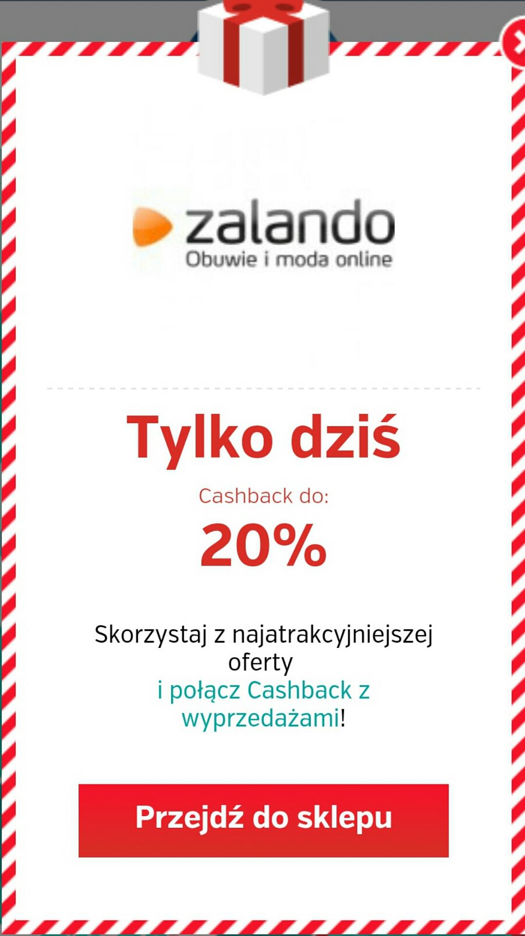 Do 20% cashback w Zalando @ PlanetPlus