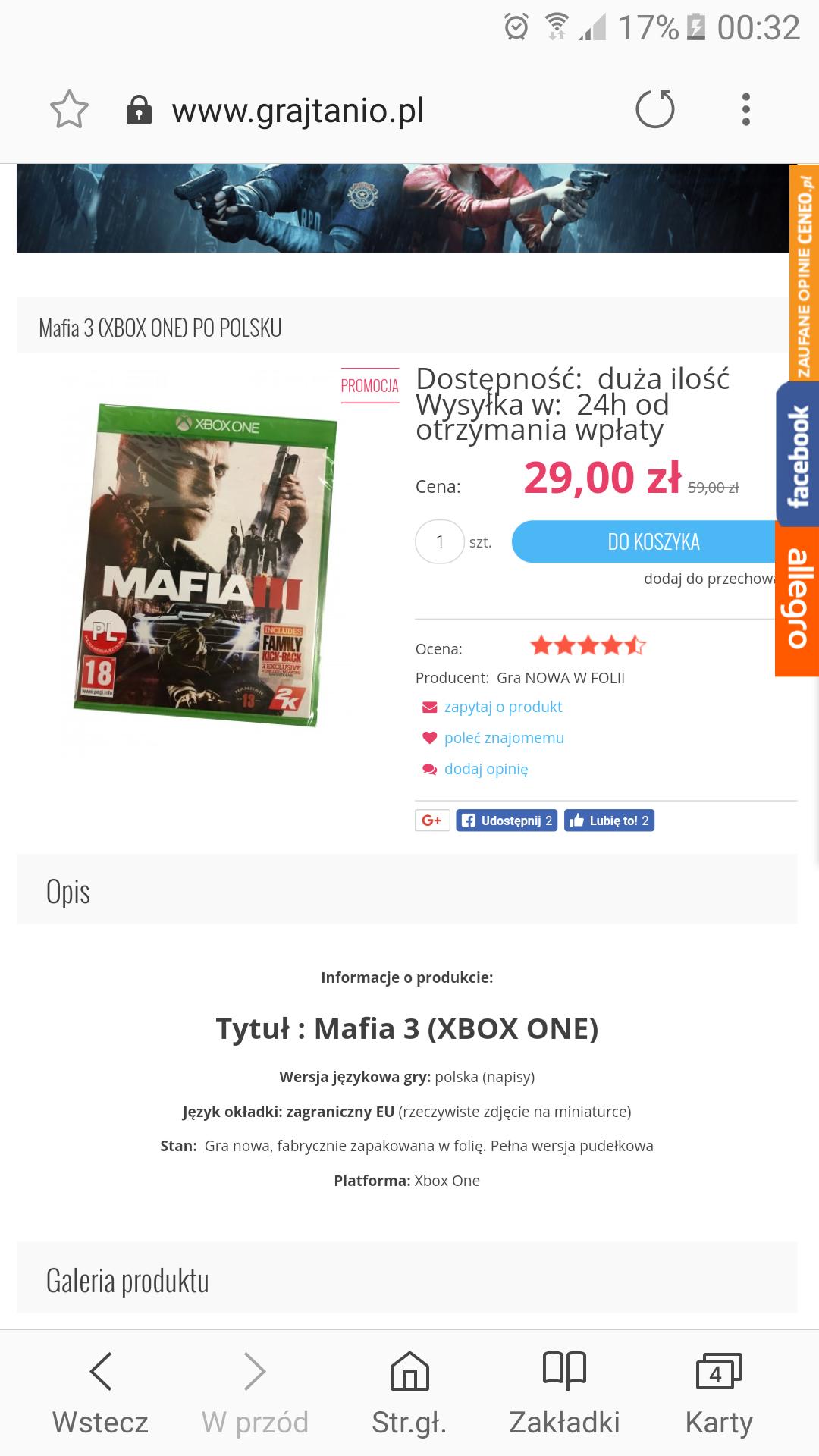 Mafia 3 na XBOX-ONE za 25zł