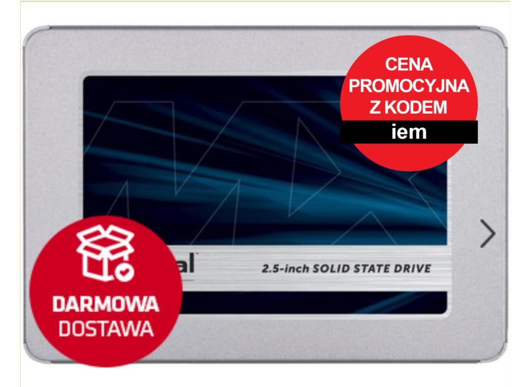 SSD Crucial MX500 500GB darmowa dostawa