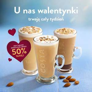 Costa Coffee - druga kawa 50% taniej