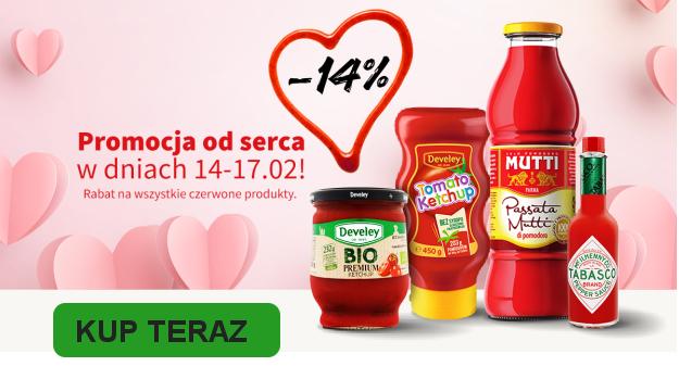 Develey.pl -14% na walentynki