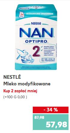 Mleko Nestle NAN 800g za 28,99zł przy zakupie dwóch sztuk @ Kaufland