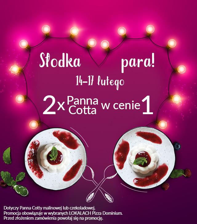 Druga Panna Cotta gratis @ Pizza Dominium