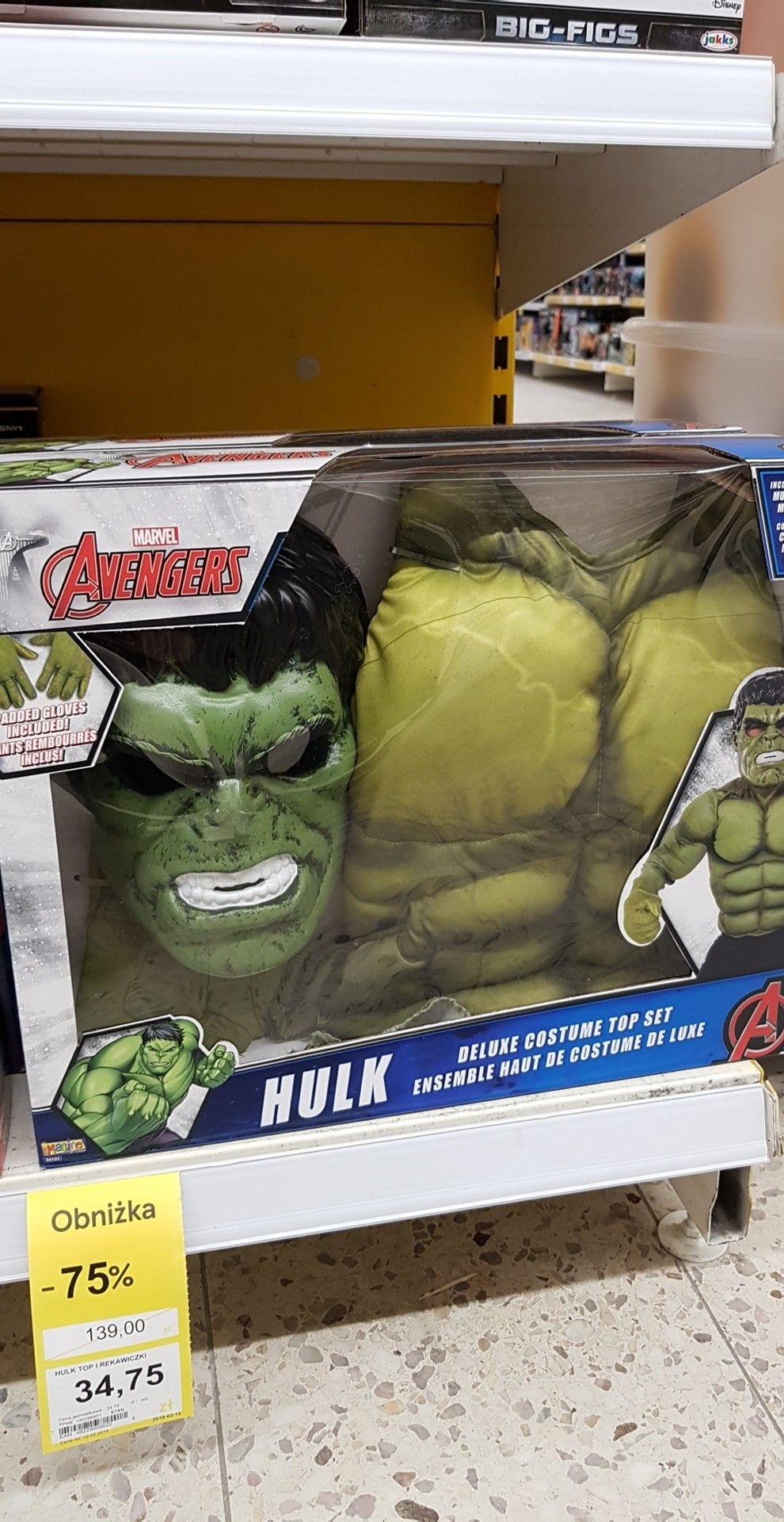Strój HULK Avengers -75% Tesco