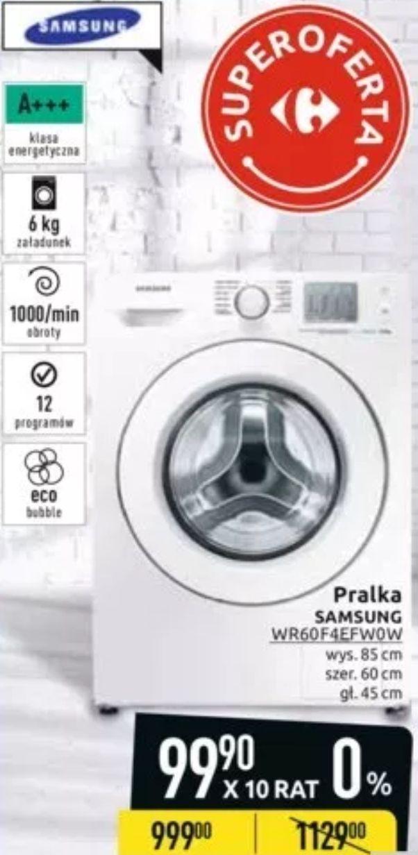 Pralka Samsung Eco Bubble Slim WF60F4EFW0W 6kg 1000obr. A+++ @ Carrefour