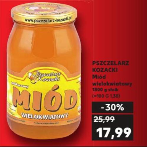 Miód Wielokwiatowy Pszczelarz Kozacki 1300g Kaufland