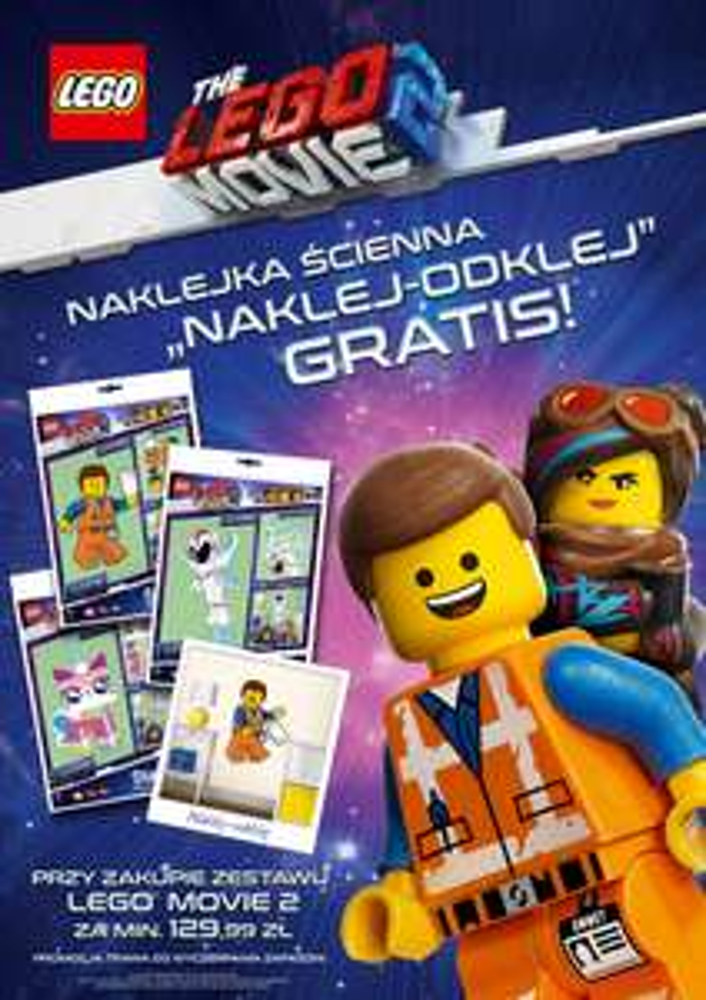 """LEGO naklejka """"Naklej-odklej"""" za przy zakupie zestrawów Lego"""