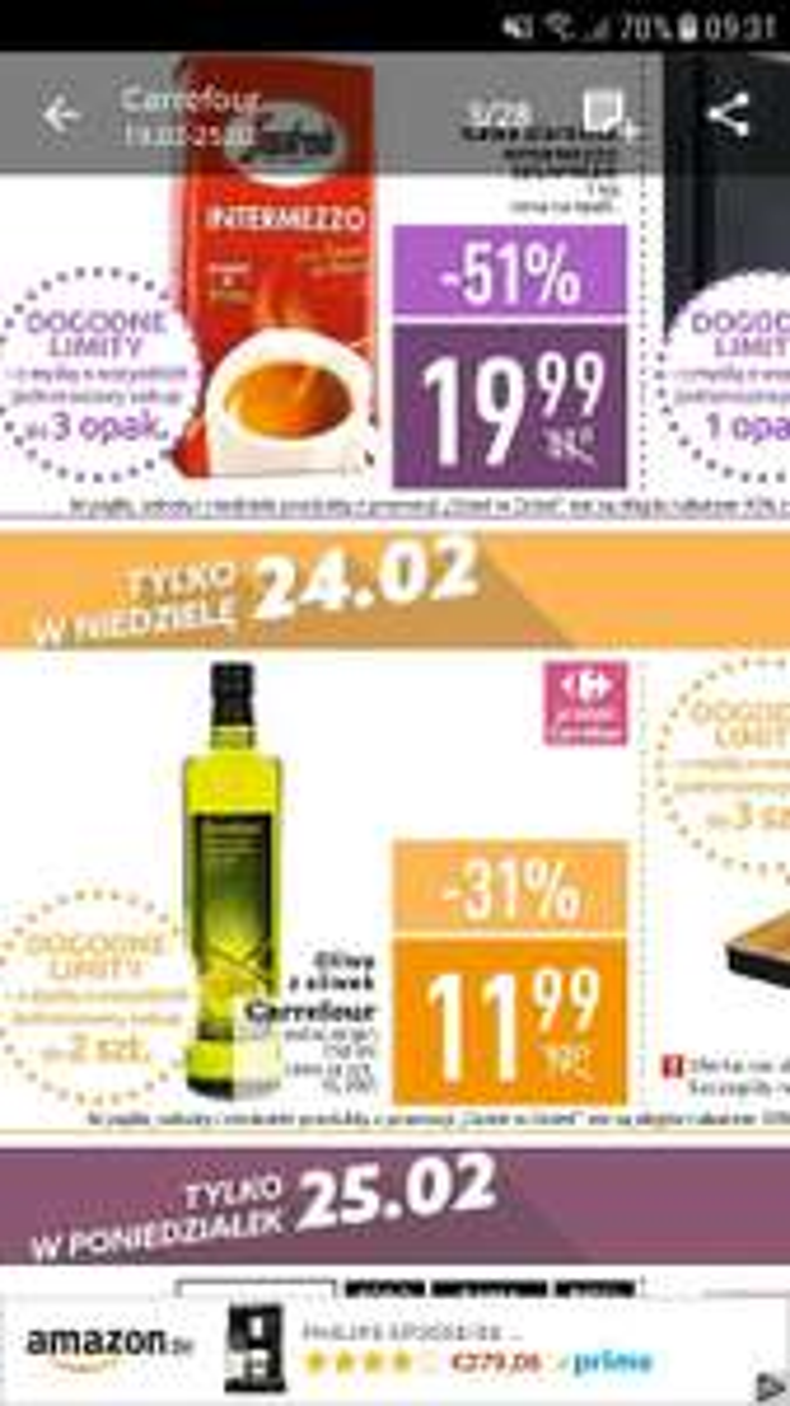 Oliwa z oliwek extra virgin 750ml