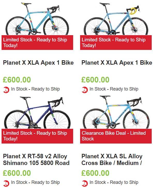 PlanetX - wyprzedaż rowerów