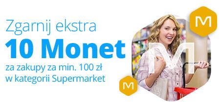 10 Monet za zakup za min. 100 zł w kategorii Supermarket @Allegro