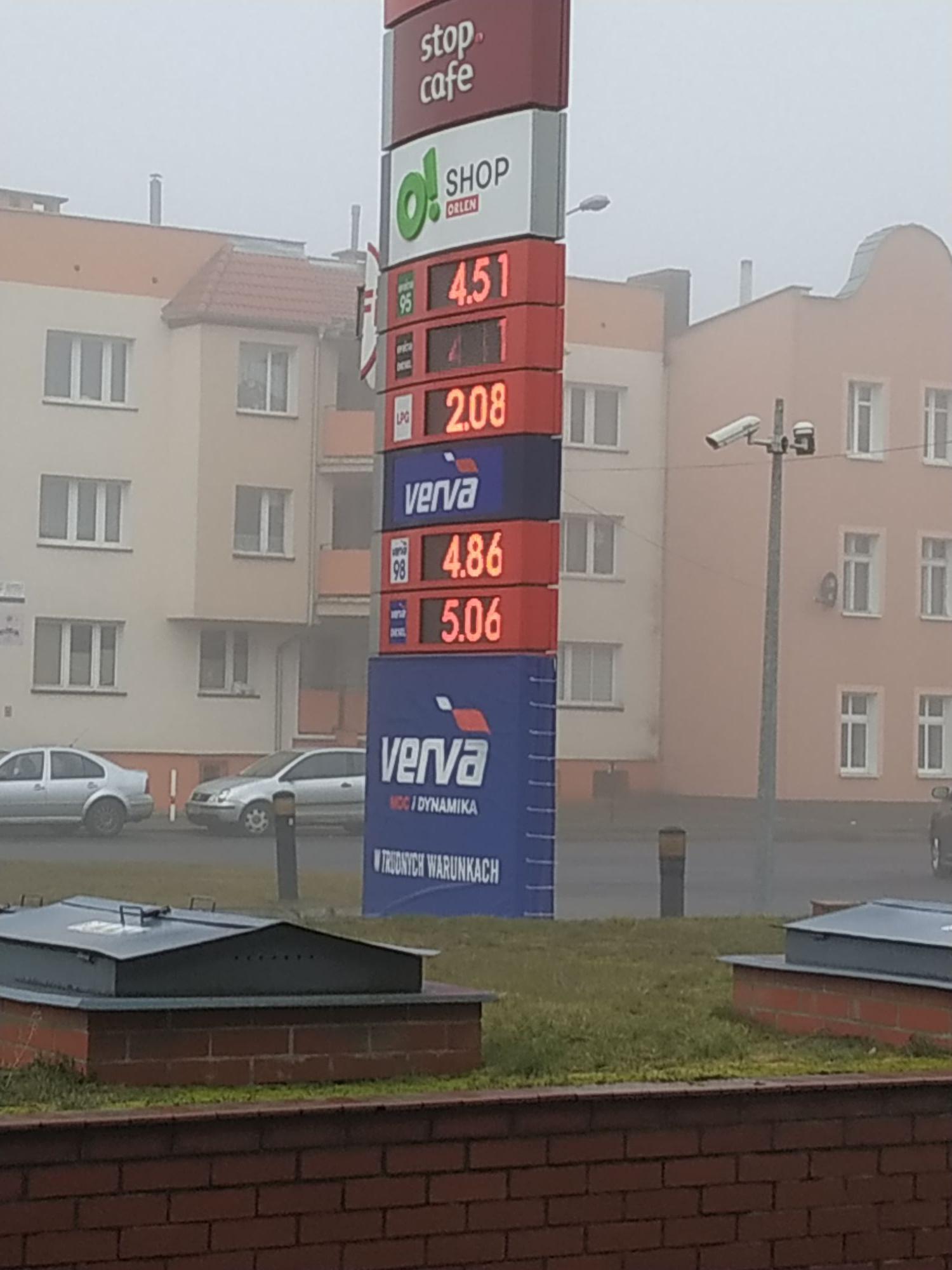 Benzyna effecta e95, Piła al. Niepodległości