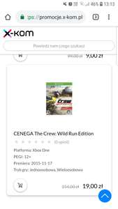 Duze promocje na gry xbox one w x-kom m.in. The Crew: Wild Run Edition