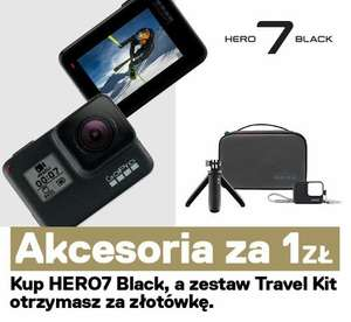 Do każdej zakupionej kamery Gopro Hero 7 black (1849zł) zestaw akcesoriów za 1zł