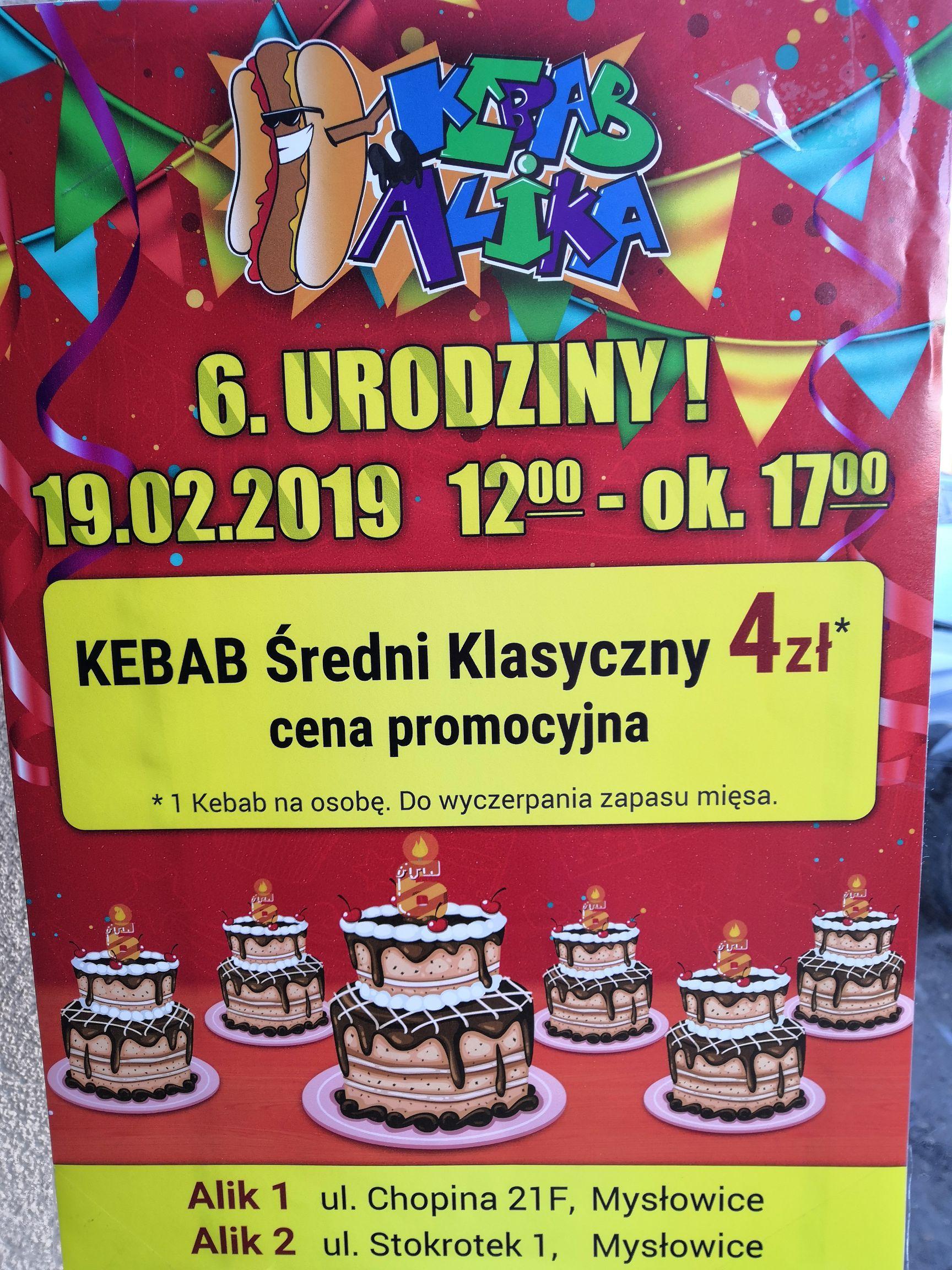 6 Urodziny Kebab u Alika. Mysłowice.