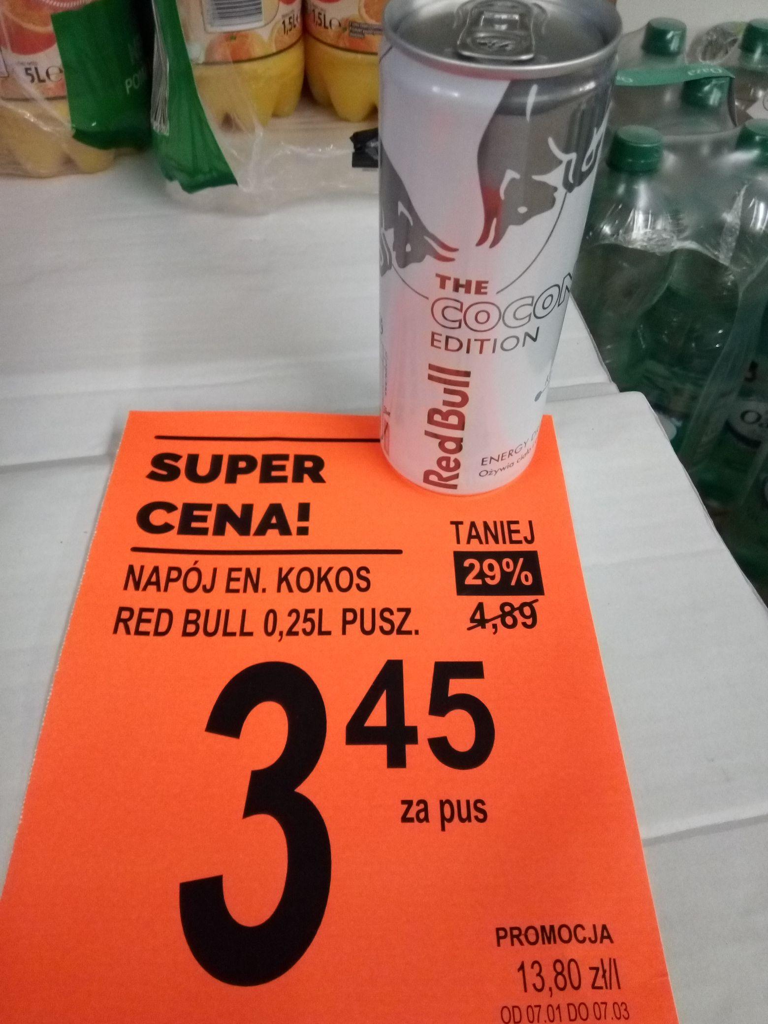 Napój energetyczny RED BULL kokos edycja limitowana@biedronka