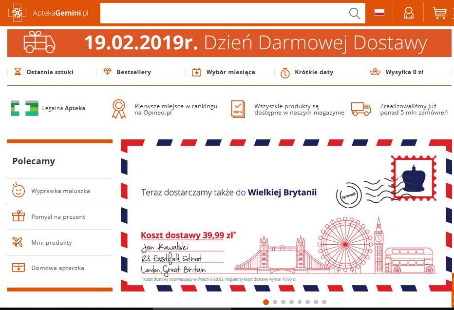 Dzień darmowej dostawy - AptekaGemini.pl