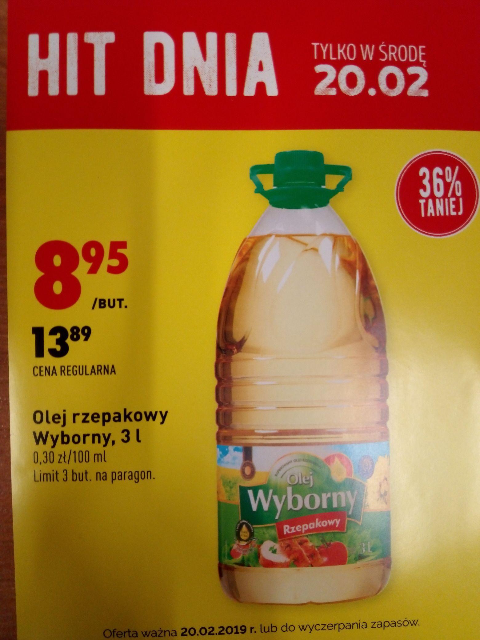 Hit dnia Olej rzepakowy 3l @biedronka tylko 20.02