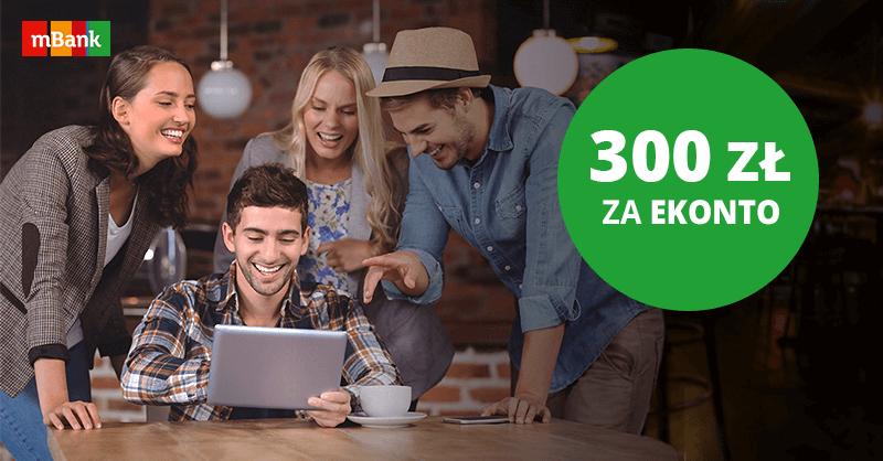 300 zł łatwego bonusu i 2,5% na koncie oszczędnościowym za założenie eKonta w mBanku!