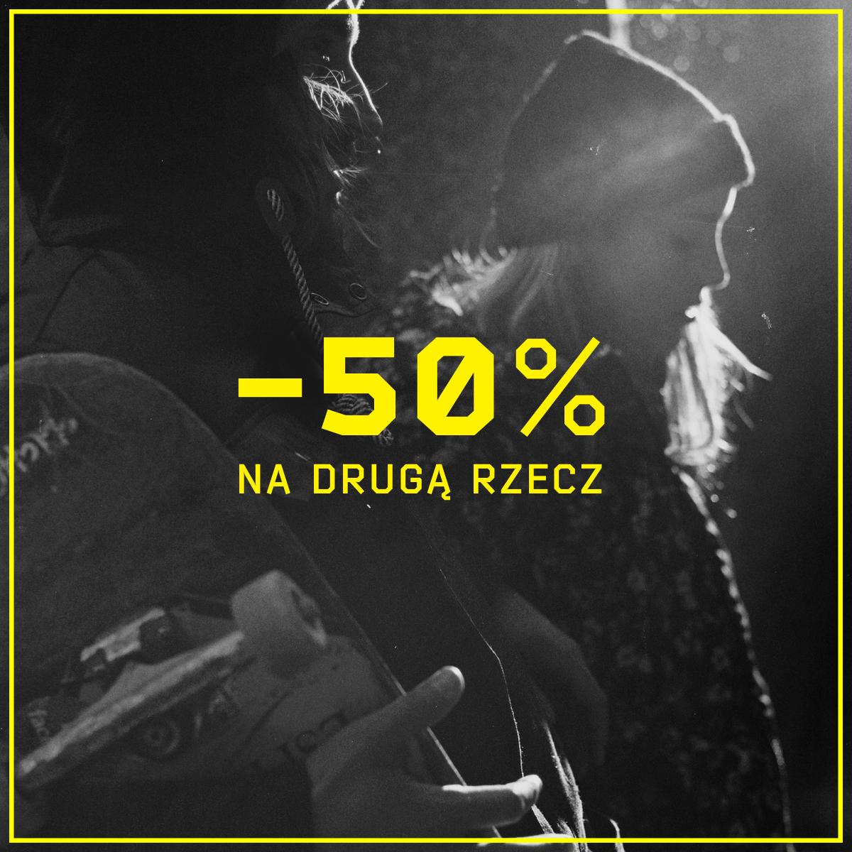 Druga rzecz 50% taniej (także z wyprzedaży) @ Cropp
