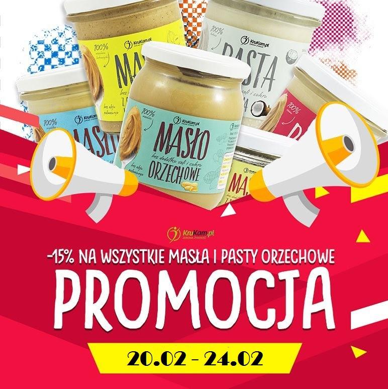 -15% na wszystkie masła orzechowe i pasty w Krukam