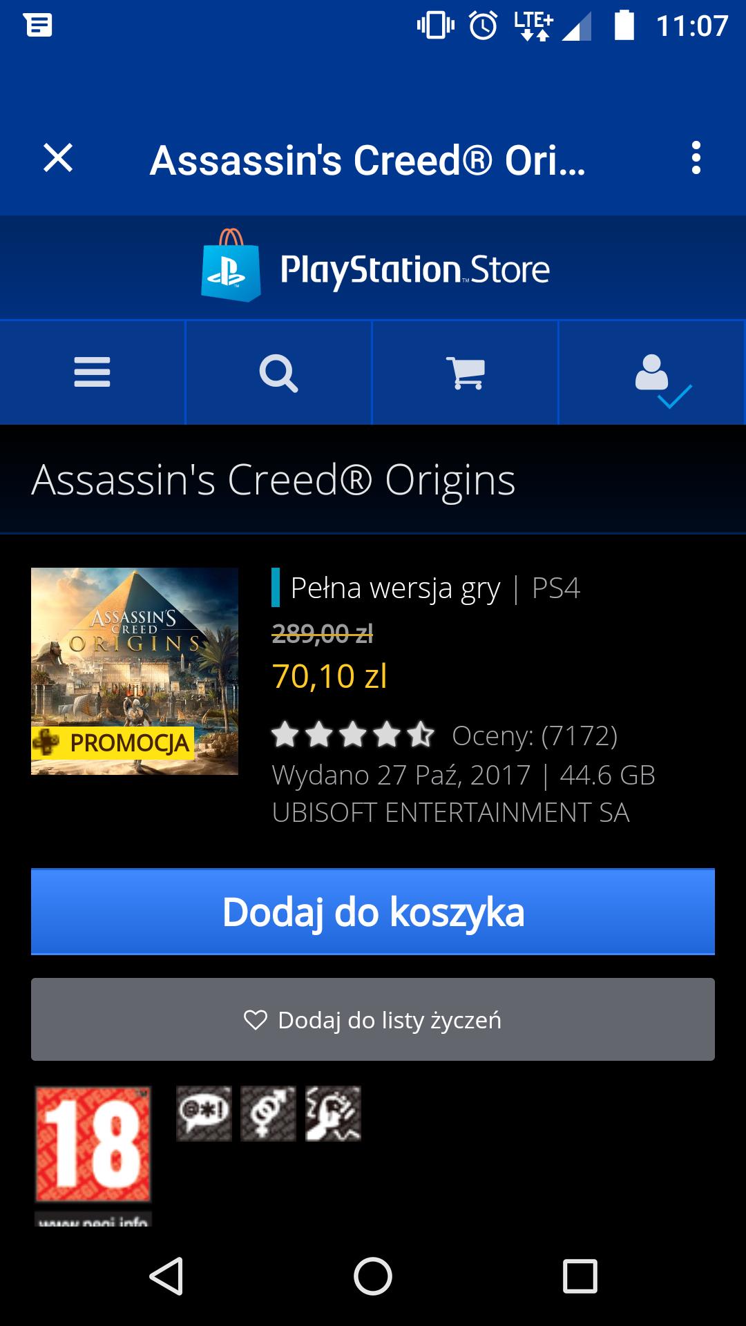 Assassin's Creed Origins. PS4. PSN