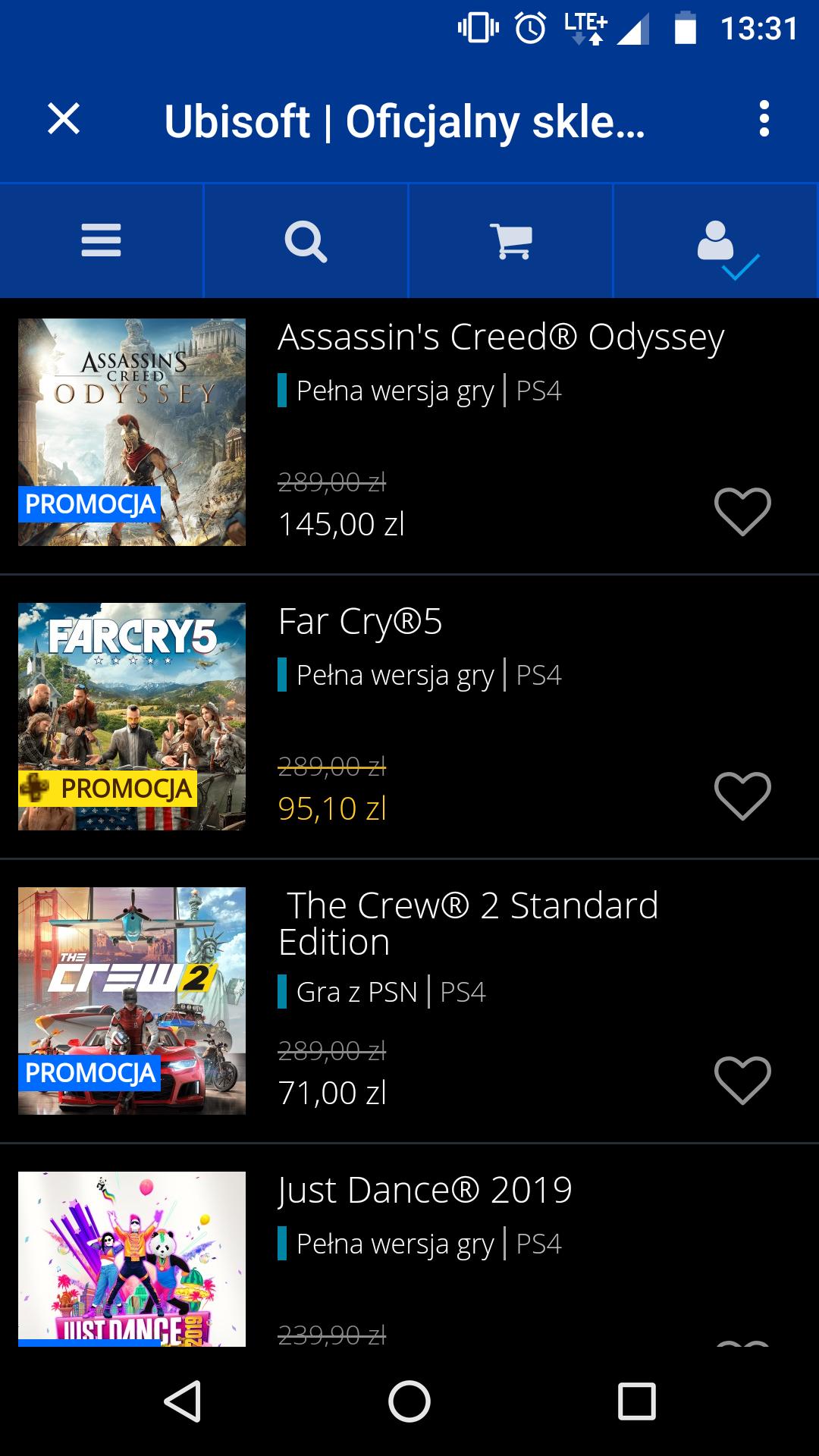 PSN Gry Ubisoft