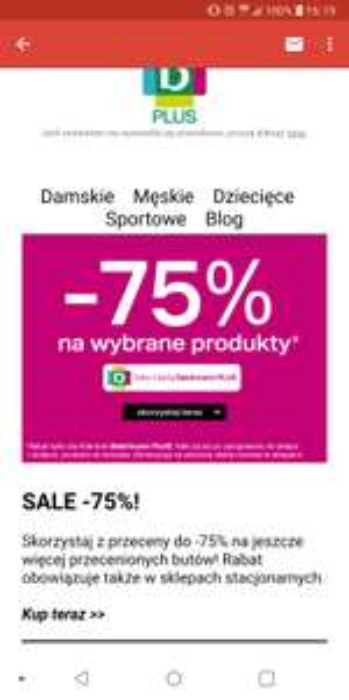 -75% od regularnej ceny w Deichmann