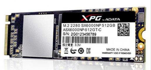 Adata SSD XPG SX6000 512GB PCIe 3x2 1000/800MB/s M2 #net-s.pl wysyłka od 10,99PLN
