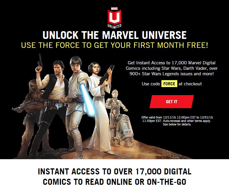 30 dniowy dostęp do WSZYSTKICH komiksów Marvela @ Marvel Unlimited