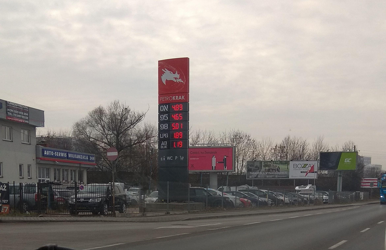 LPG 1.89, aleja 29 Listopada 155A,  Kraków