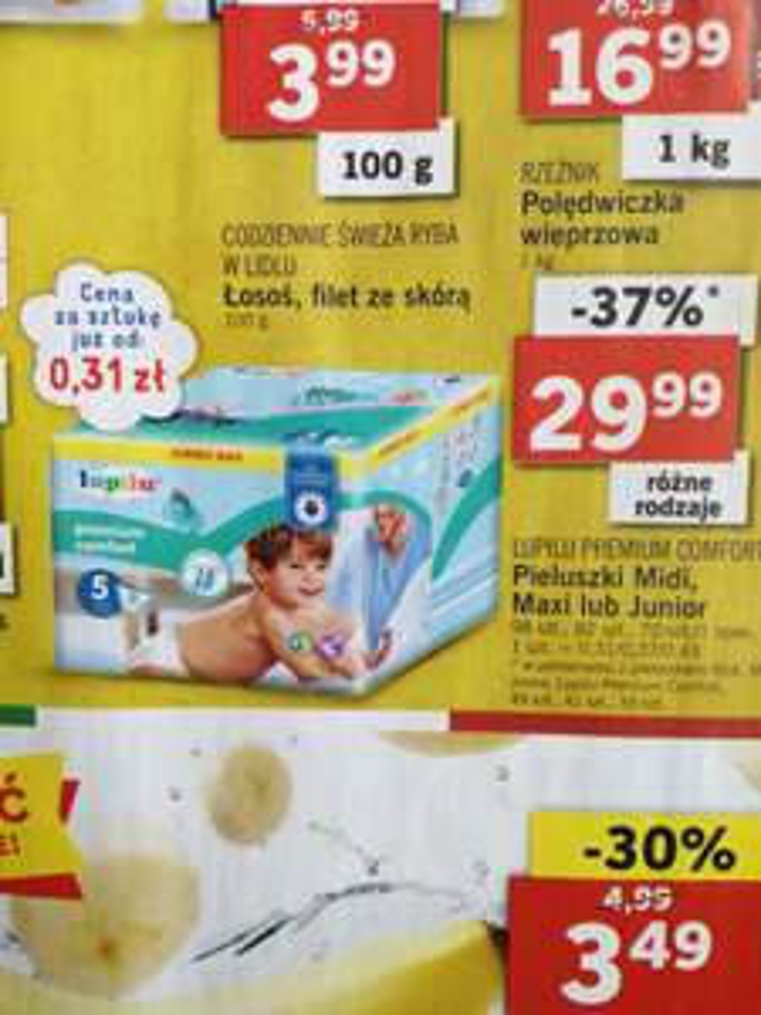 Pieluszki LUPILU Premium Comfort różne rozmiary
